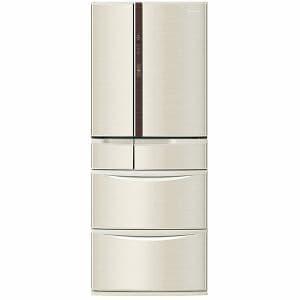パナソニック NR-F471V-N 6ドア冷蔵庫 「Vタイプ」(470L・フレンチドア) シャンパン