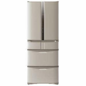 日立 R-F480F-T 6ドア冷蔵庫 「Fシリーズ 真空チルド」 (475L・フレンチドア) ソフトブラウン