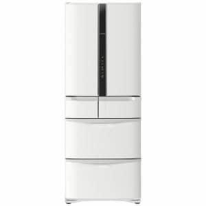 日立 6ドア冷蔵庫 (475L・フレンチドア) パールホワイト R-FR48M5-W
