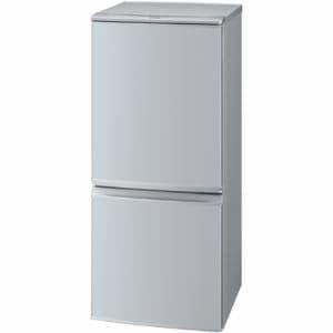 シャープ SJ-D14B-S 2ドア冷蔵庫 (137L・つけかえどっちもドア) シルバー系