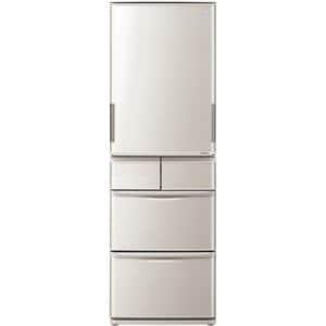 シャープ SJ-PW42B-S 5ドア冷蔵庫 (412L・どっちもドア) シャイニーシルバー