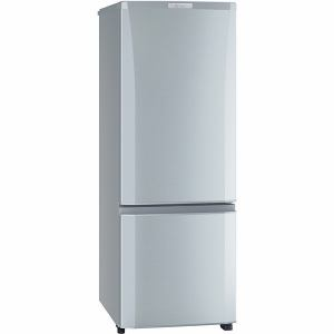 三菱 MR-P17Z-S 2ドア冷蔵庫 (168L・右開き) ピュアシルバー