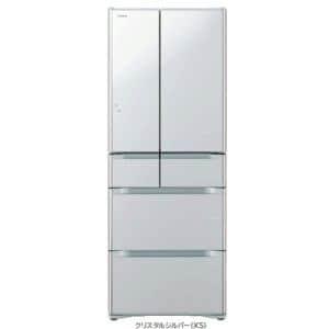 日立 ヤマダ電機オリジナルモデル 6ドア冷蔵庫「真空チルド」 (565L・フレンチドア) クリスタルシルバー R-F570EM-XS