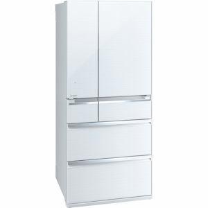 三菱 MR-WX70A-W 6ドア冷蔵庫 「置けるスマート大容量 WXシリーズ」  (700L・フレンチドア) クリスタルホワイト