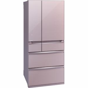 三菱 MR-WX70A-P 6ドア冷蔵庫 「置けるスマート大容量 WXシリーズ」  (700L・フレンチドア) クリスタルロゼ