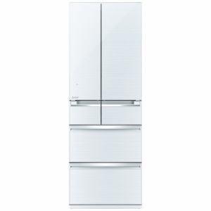三菱 MR-WX52A-W 6ドア冷蔵庫 「置けるスマート大容量 WXシリーズ」  (517L・フレンチドア) クリスタルホワイト