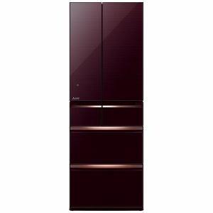 三菱 MR-WX52A-BR 6ドア冷蔵庫 「置けるスマート大容量 WXシリーズ」  (517L・フレンチドア) クリスタルブラウン