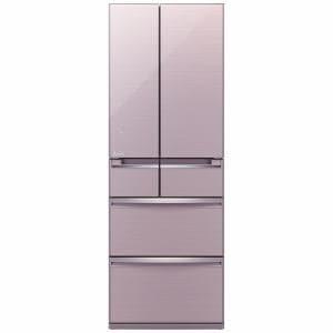 三菱 MR-WX52A-P 6ドア冷蔵庫 「置けるスマート大容量 WXシリーズ」  (517L・フレンチドア) クリスタルロゼ