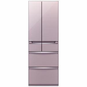 三菱 MR-WX47A-P 6ドア冷蔵庫 「置けるスマート大容量 WXシリーズ」  (470L・フレンチドア) クリスタルロゼ