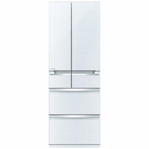 三菱 MR-WX47A-W 6ドア冷蔵庫 「置けるスマート大容量 WXシリーズ」  (470L・フレンチドア) クリスタルホワイト