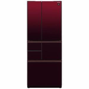 シャープ SJ-GT51C-R 6ドア冷蔵庫 (505L・フレンチドア) グラデーションレッド