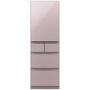三菱 MR-B46A-P 5ドア冷蔵庫(455L・右開き) クリスタルロゼ