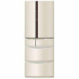 パナソニック NR-F502V-N 6ドア冷蔵庫 (501L・フレンチドア)「Vタイプ」 シャンパン