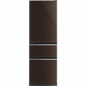 三菱 MR-CX37A-BR 3ドア冷蔵庫 CXシリーズ (365L・右開き) グロッシーブラウン