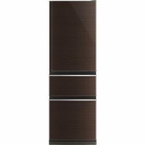 三菱 MR-CX37AL-BR 3ドア冷蔵庫 CXシリーズ (365L・左開き) グロッシーブラウン