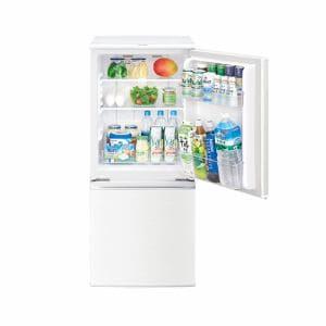 シャープ SJ-D14C-W 2ドア冷蔵庫(137L・つけかえどっちもドア) ホワイト系