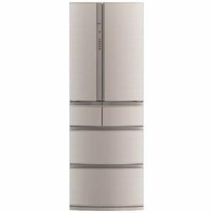 三菱 MR-RX46A-F 6ドア冷蔵庫 「置けるスマート大容量」 (461L・フレンチドア) フローラル