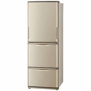 シャープ SJ-W352C-N 3ドア冷蔵庫 (350L・どっちもドア) ゴールド系