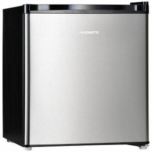 ドメティック DS42 1ドア冷蔵庫 (42L・右開き) シルバーステンレス&ブラック