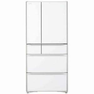 日立 R-XG4800H-XW 6ドア冷蔵庫 「真空チルドXGシリーズ」 (475L・フレンチドア) クリスタルホワイト