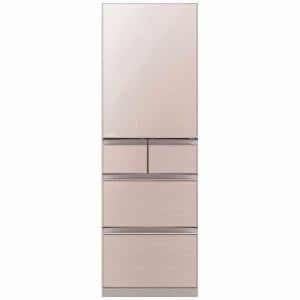 三菱 MR-B46CL-F 5ドア冷蔵庫 「置けるスマート大容量 Bシリーズ」 (455L・左開き) クリスタルフローラル
