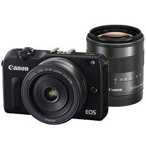 【処分品】 キヤノン EOS M2【ダブルレンズキット】 デジタル一眼カメラ ブラック