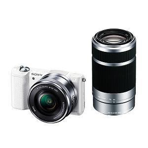 SONY レンズ交換式デジタル一眼カメラ「α5000」ダブルズームレンズキット ILCE-5000Y(W)