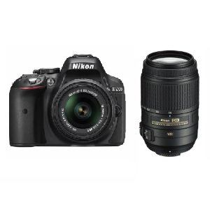 Nikon デジタル一眼カメラ D5300 ダブルズームキット D5300 WZ BK