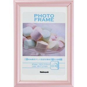 ナカバヤシ 樹脂製(PVC)フォトフレーム KG判/L判 ピンク フ-TPS-201-P