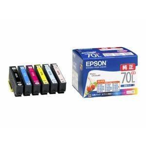 エプソン IC6CL70L 【純正】インクカートリッジ 6色セット(増量タイプ)