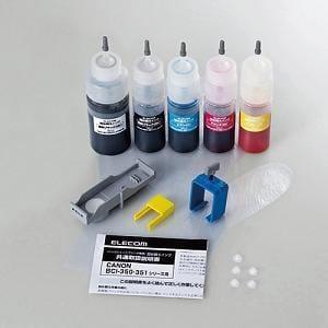 エレコム THC-351350SET5 キャノン用 詰め替えインク 5色セット