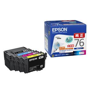EPSON 純正インクカートリッジ(4色セット・大容量) IC4CL76