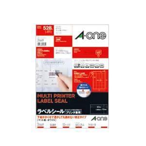 エーワン 31669 ラベルシール プリンタ兼用 ( A4サイズ / 44面 / 12シート ) ホワイト