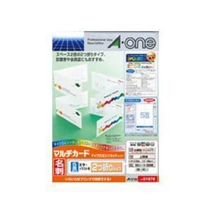 エーワン 51078 マルチカード 各種プリンタ兼用紙 ( A4判 / 5面 / 100シート )