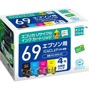 Ecorica エプソン用リサイクルインク(4色パック) ECI-E69-4P