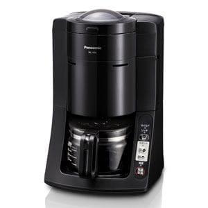 パナソニック NC-A56-K ミルつき沸騰浄水コーヒーメーカー (5杯分) ブラック 豆の挽きからドリップ、ミルの洗浄まで「全自動」