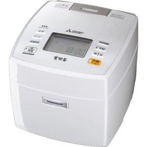 三菱 IH炊飯ジャー 「炭炊釜」(5.5合) ピュアホワイト NJ-VV106-W