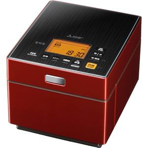三菱 IH炊飯器 5.5合炊き 蒸気レス 炭炊釜 ルビーレッド NJ-XS106J-R