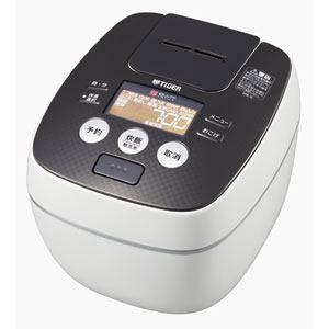 タイガー 圧力IH炊飯ジャー 「炊きたて」(1升) クールホワイト JPB-G181-WA