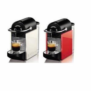 ネスレ コーヒーメーカー 「ピクシークリップ」 (ホワイト&コーラルレッド) D60WR