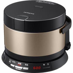 日立 IHジャー炊飯器(2合炊き)「打込鉄釜 おひつ御膳」 ブラウンゴールド RZ-WS2M-N