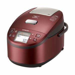 日立 RZ-YV100M-R 圧力スチームIHジャー炊飯器(5.5合炊き) メタリックレッド