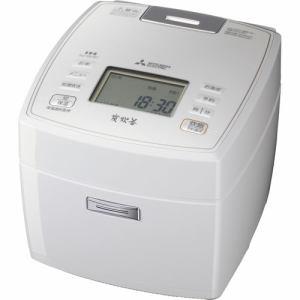 三菱 NJ-VE107-W IHジャー炊飯器 「備長炭 炭炊釜」 (5.5合炊き) ピュアホワイト