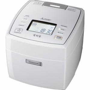 三菱 NJ-VX107-W IHジャー炊飯器 「備長炭 炭炊釜」 (5.5合炊き) ピュアホワイト