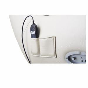 フジ医療器 AS-LS1-CV ロースタイルマッサージチェア ベージュ×バイオレット