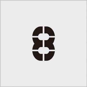 IM ステンシル 8 文字サイズ100×65mm