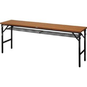 TRUSCO 折畳会議テーブル ワイドクランク 1800X600 ストッパー付