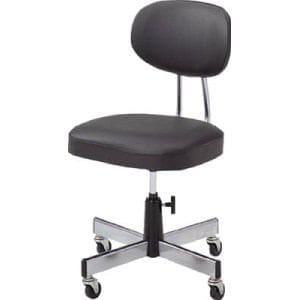 TRUSCO 事務椅子 ビニールレザー張り ブラック