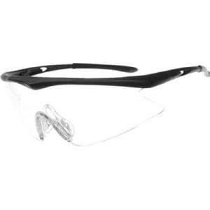 TRUSCO 一眼型安全メガネ スポーツタイプ フレームブラック レンズクリア