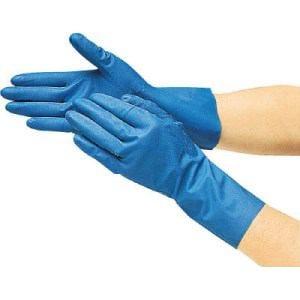 TRUSCO 耐油耐溶剤ニトリル薄手手袋 Lサイズ